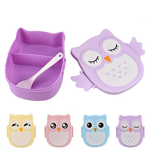 Cute Cartoon Owl Lunch Box Food Container Lunch Bento Box Storage Box Portable Kids Student Container With Compartments Case #47