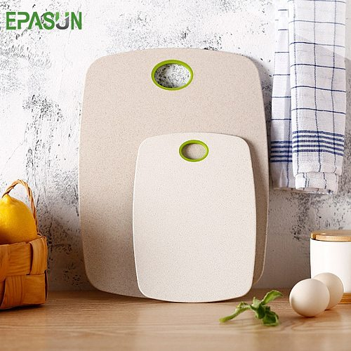 EPASUN Cutting Board 2pcs/Set Non-Slip Chopping Board Eco-Friendly Wheat Straw Kitchen Meat Fruit Food Vegetable Board Tools