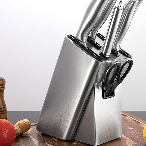 Knife Stand Holder For Kitchen Knife Block Organizer Stainless Steel Knife Holder Stand Block High End Kitchen Accessories