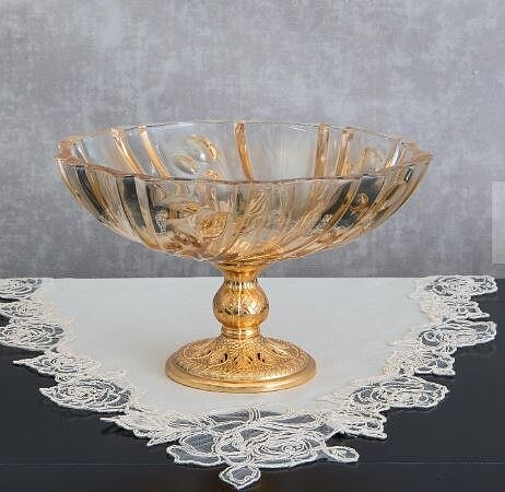 Decorative Crystal Glass Bowl Living Room Office Dowry House Decoration 1 Piece Modern living room creative shape snack storage