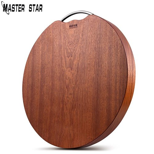 Master Star Double Sided Thickened Kitchen Household Solid Wood Whole Wood Round Chopping Mahogany Chopping Board