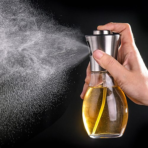 200ml Stainless Steel BBQ Baking Olive Oil Spray Bottle Oil Bottles Water Pump Gravy Boats Grill Oil Sprayer BBQ Kitchen Tools