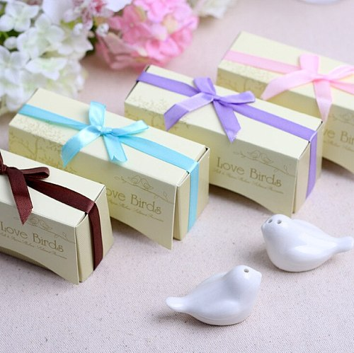 200pcs Love Bird Salt & Pepper Shaker Wedding Favors And Gifts For Guests Souvenirs Decoration Event & Party Kitchen Supplies