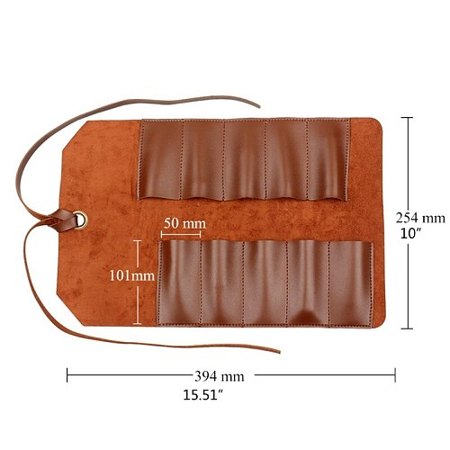 Leather Small Tool Roll Multi Function Bicycle Mechanic Repair Tool Kit Bag Y5JC