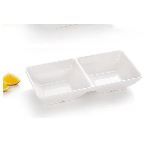 Spice sauce dipping bowl cup 2-compartment melamine gravy boat serving board pudding tray sushi dishes party appetizers plates