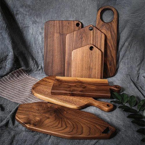 Black Walnut Whole Wood Kitchen Cutting Board Solid Wood Fruit Chopping Board Bread steak cutting Tray