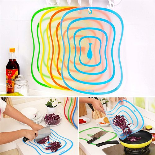 Kitchen Cutting Boards Chopping Block Frosted Plastic Folding Board Fruit Vegetable Meat Fish Cutting Boards Kitchen Stuff