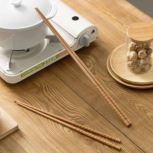 1Pair Super Long Chopsticks Wooden Chopsticks Cook Noodles Deep Fried Hot Pot Chinese Style Food Sticks Kitchen Tools