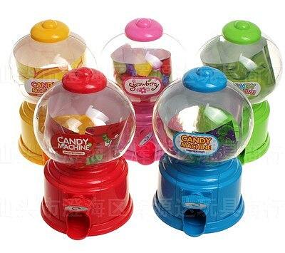2017 20pcs Korean Style Cute Candy Machine Children Plastic Jar Creative Mini Twist Candy Machine Bank Receive a Case