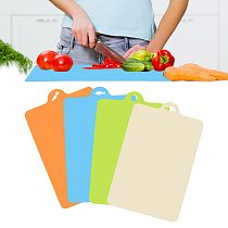 38*24cm Plastic Cutting Board Vegetable Meat Slice Chopping Block Non-slip Hang Hole Kitchen Gadgets Cooking Tools
