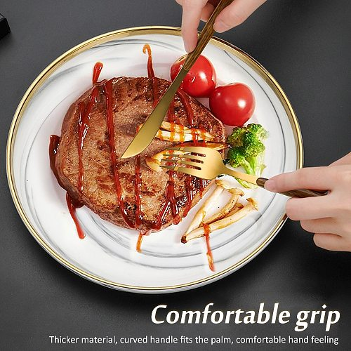 5PCS Gold Silver Stainless Steel Cutlery Set Portugal Cutipol Flatware Tableware With Wooden Handle Metal Spoon Fork Knife