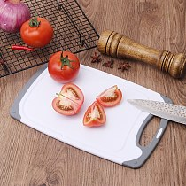 BPA Free Non-Slip Dishwasher Safe Large and Thick Chopping Board Plastic Kitchen Cutting Board Set with Easy Grip Handles
