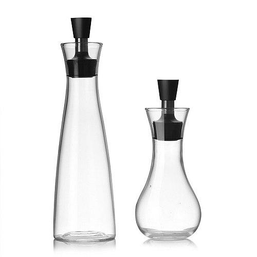 Hot Kitchen Assistant High Borosilicate Glass Oil Dispenser Bottles Can Cruet Storage With Pourer Spout 250ml 500ml Gravy Boats