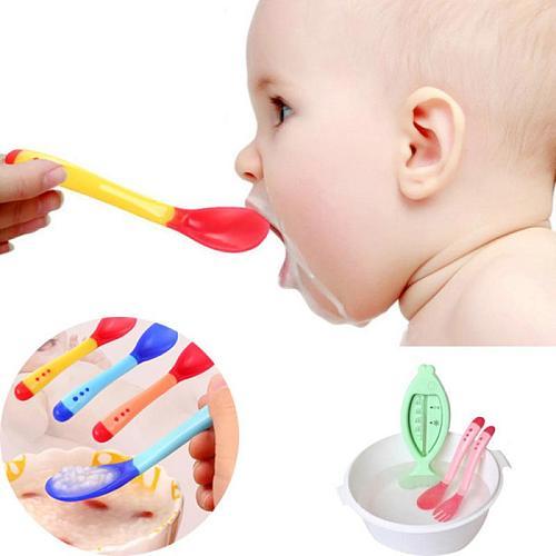 Silicone Spoon Baby Tableware Children's Spoons Kids Dinner Baby Feeding Tools Tableware Waterproof Spoon Non-Slip Crockery