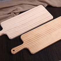 Rectangle Wood Cutting Board Chopping Blocks with Handle for Bread Cheese Sushi and Pizza Large Walnut Wood Cutting Board