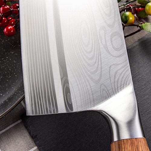 Liang Da Chinese Slicing Knives Super Sharp Blade Vegetable Meat Fish Knife 4Cr13 High Hardness Kitchen Cooking Knives Cleaver