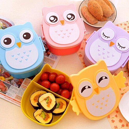 Owl Shaped Lunch Box With Compartments Lunch Food Container With Lids Almacenamiento Cocina Portable Bento Box For Kids School