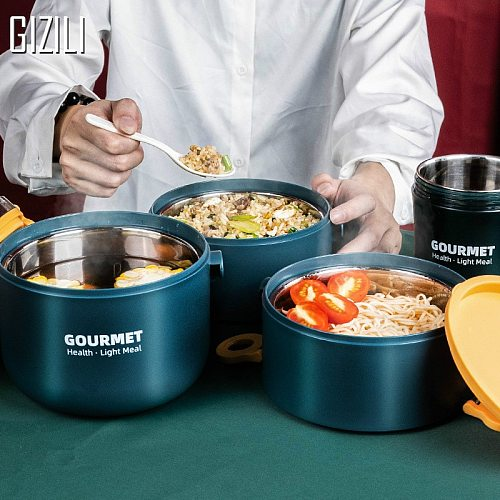 Stainless Steel Lunch Box Leak-Proof Portable Insulated Student School Multi-layer Tableware Bento Box Food Container Storage