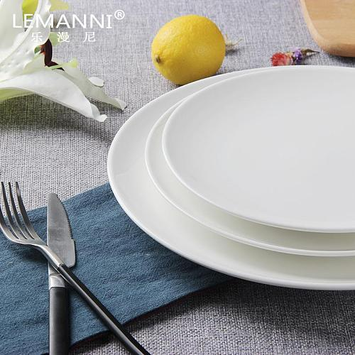 Metal Cutlery Plate Set Solid Color Personality Ceramic Dinner Plate Set Modern Exquisite Borden Servies Kitchen Supplies DK50PS