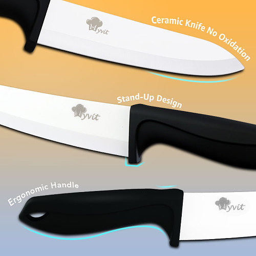 Ceramic Knife Set 3456 inch 1-4pcs Kitchen Knife with Peeler Fruit Vegetable Utility Slicing Zirconium White Blade Chef Knives