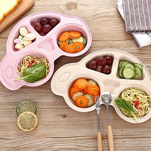 Children Tableware Baby Toddler Divided Plates Durable Cartoon Dinner Plate Non Slip Kids Tray Cartoon Children Tableware
