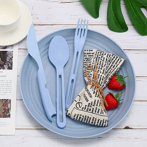 3Pcs Kids Children Dinnerware Sets Chopsticks Fork Spoon Set Utensil Set Travel Cutlery Camping Tableware Portable Set