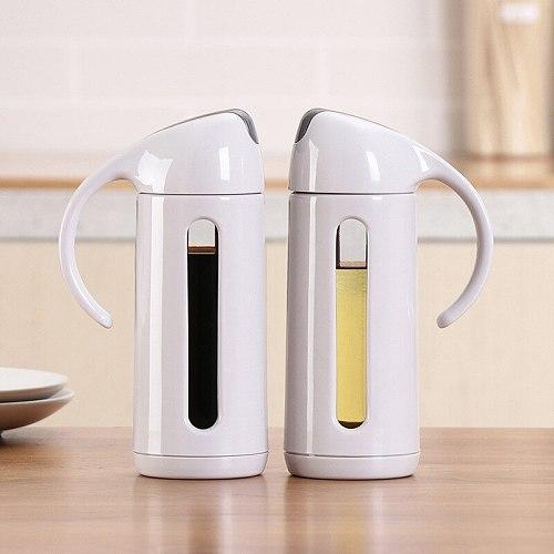 Oil Dispenser Glass Olive Oil Bottle Pot Leakproof Sauce Vinegar Bottle Gravy Boat Oil Pourer Bottle for Cooking Honey Dispenser