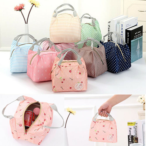 Portable Travel Thermal Insulated Cooler Lunch Bag Lunch Box Picnic Food Carry Tote Pouch For Women Kids