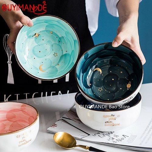Star Series Ceramic Bowl Fruit Salad Tray Cute Noodle Bowl Theme Restaurant Serving Bowl 2020 Fashion