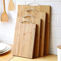 Wooden Chopping Blocks Tool Bamboo Rectangle Hangable Cutting Board Durable Non-slip Kitchen Accessories Chopping Board 1pcs