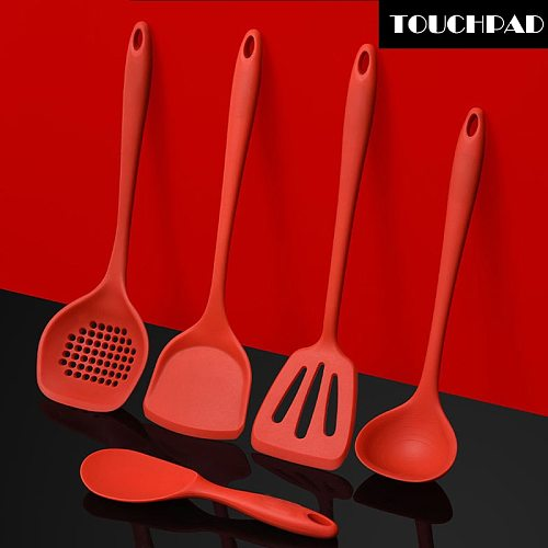 Silicone Cooking Kitchen Utensils Set Non-Stick Dishwasher Safe Cooking Tools Spoon, Slotted Spoon,The Kitchen Shovel,Rice Spoon
