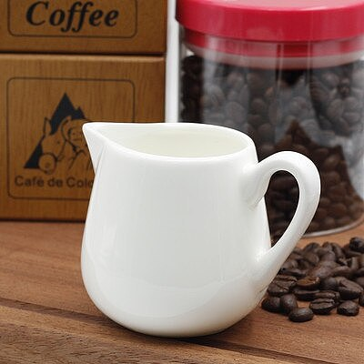 Ceramics Seasoning Jar Creamer Container Cup Tableware White Kitchen Tools Sugar & Creamer &Milk Pots Pitcher