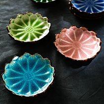 Creative Ceramic Saucer Dish Flower Plate Seasoning Soy Sauce Vinegar Ketchup Decoration Household Tableware Essential Oil