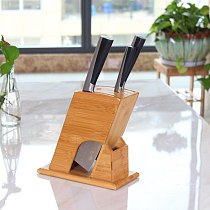 1PC Bamboo Kitchen Knife Holder Multifunctional Storage Rack Tool Holder Wood Knife Block Stand Kitchen Accessories Tools