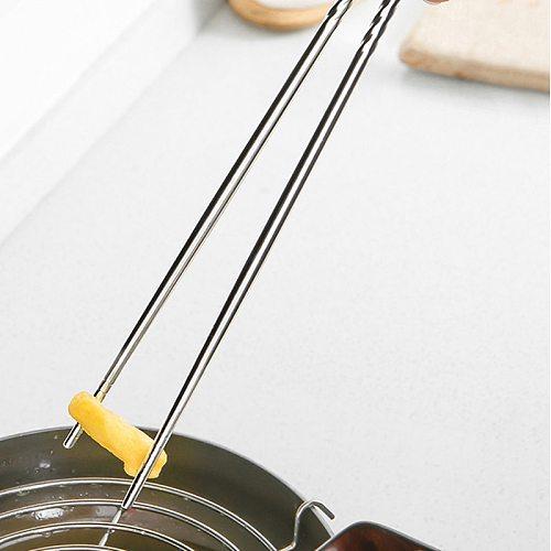 Kitchen Accessories 1 Pair Long 38.8cm Korean Stainless Steel Chopsticks Food Sticks Portable Reusable Chopstick Sushi Hashi