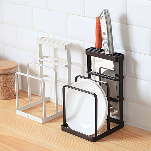 Creative Cutlery Display Rack Iron Kitchen Knives Drain Rack Portable Home Garden Kitchen Dining Supplies