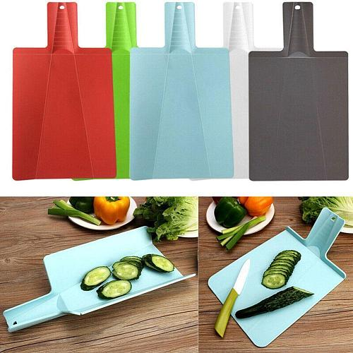 1PC Foldable Chopping Blocks Food Grade Plastic Vegetable Cutting Board Accessories Meat Kitchen Multi-function J4X9
