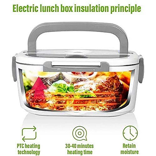 3 in 1 Electric Lunch Box Mobile Stainless Steel Lunch Box Car Kitchen Dual-use Can be Heated Lunch Box, Office Workers Lunch