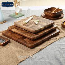 LARGE Square Cutting Board, End Grain Butcher Block, Whole Wood Chopping Blocks, Tailand Acacia Wood, Bread Board Sushi Plate