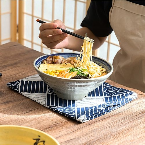 Thickened Melamine Noodle Bowl Imitation Porcelain Large Soup Powder Commercial Spicy Hot Anti Falling Plast Fast Food Tableware