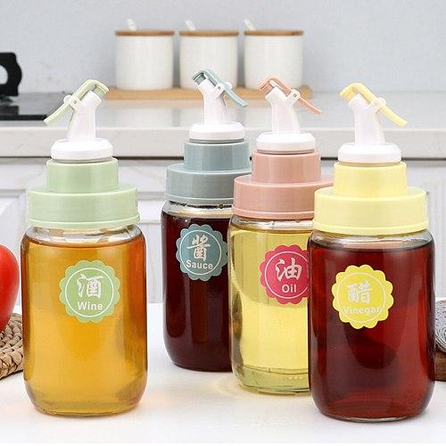 Leak-proof Oil Bottle Stopper Soy Sauce Vinegar Seasoning Bottle Liquor Dispenser Cap Wine Pourers Flip Top New