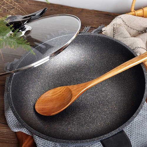 16.5 inch Giant Wood Spoon Long Handled Wooden Spoon For Cooking And Stirring Kitchen Utensil