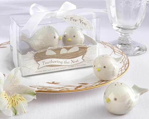 Wedding Favors Gifts 200sets=400pcs Pied Magpie Ceramic Salt and Pepper bird Shaker/ Bridal Promotion Gifts