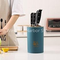 Kitchen Multi-Function Utensil Holder Knife Block PP Flatware Set Drainer Storage Box Cooking Tool Organizer Rack