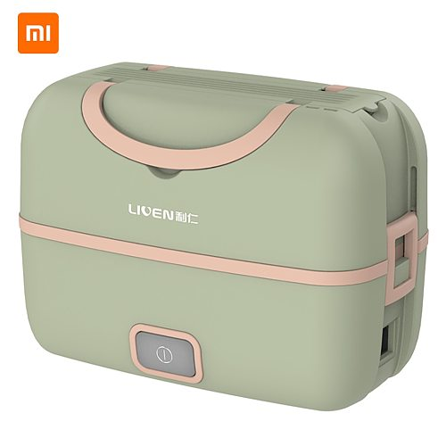 Xiaomi Liren Portable Cooking Electric Lunch Box Vacuum Sealed Silent Heating Large Capacity Double Layer Steaming Rice Artifact