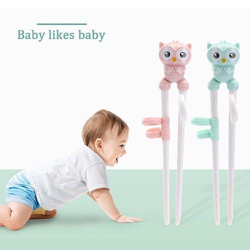 1Pair Chopsticks Baby Kid Cartoon Food Sticks Easy Use Fun Reusable Learning Training Helper Chopsticks Dinner Game Kitchen tool