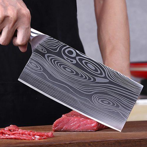 9cr18mov Sanhe Steel Kitchen Knife Chef's Slicer Hotel Meat Cleaver Chopping Knife Sharp Durable High Hardness
