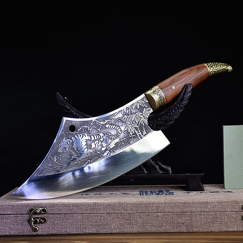 Household Hand Forged Sliced Chopping Knife Ghost Hand-made Sharp Cleaver Arc Chef's Kitchen Knife