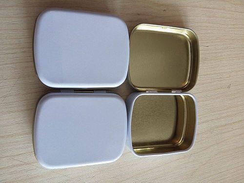 100 pcs/lot Silver Metal Box Rectangle Chewing Gum Box Tin Storage Case Multi-use Advertisement Box