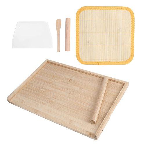 Non‑slip Mat Pastry Food Cutting Chopping Board Worktop Kitchen Utensil Dual Use Bamboo Dough Board